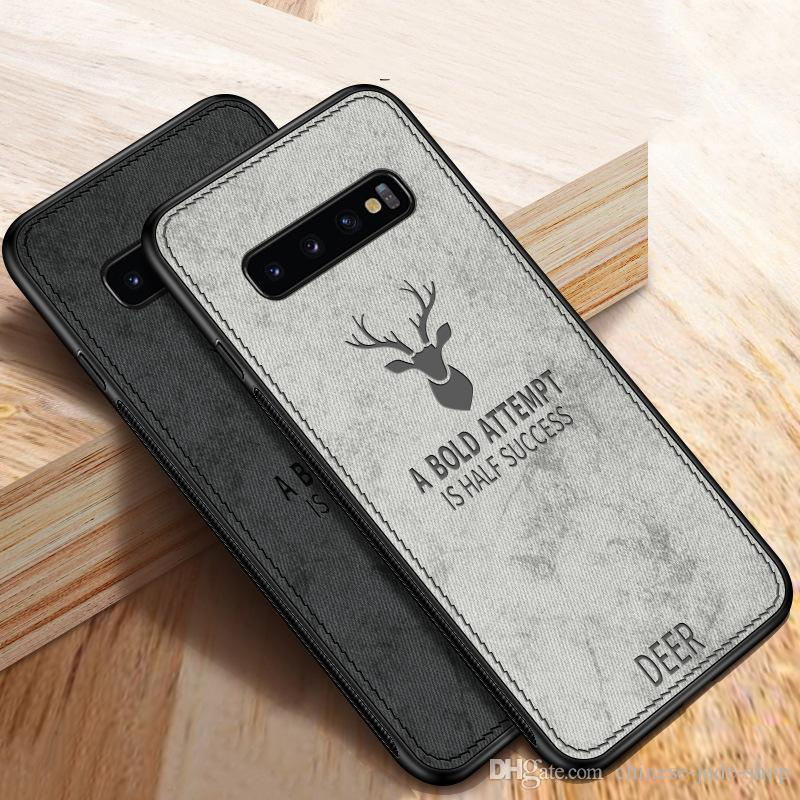 Deer Hybrid TPU + PU Fundas de cuero Funda para Samsung Galaxy S10 S10E S10 PLUS S8 S8 PLUS S9 S9 PLUS NOTA 8 NOTA 9 M20 100PCS