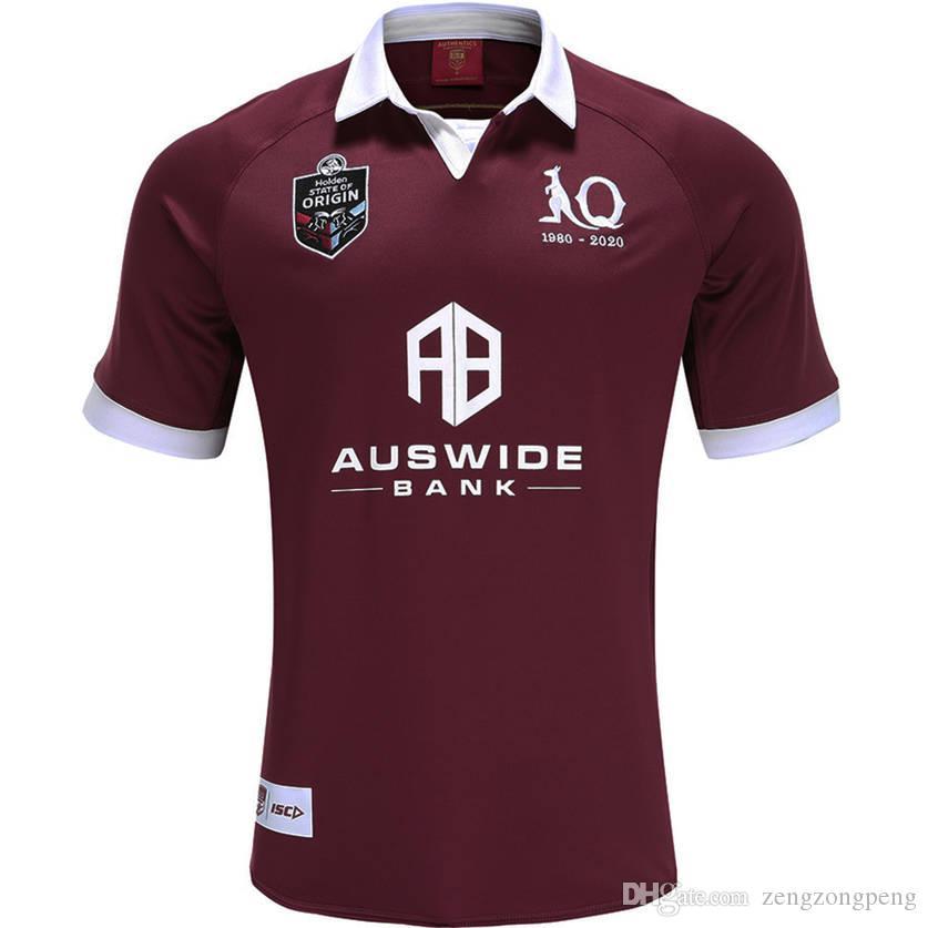 2020 Queensland Maroons Estado de origem JERSEY QLD MAROONS 2020 DO JERSEYQLD MEN MAROONS Estado de origem Rugby tamanho Camisa S-5XL (pode imprimir)