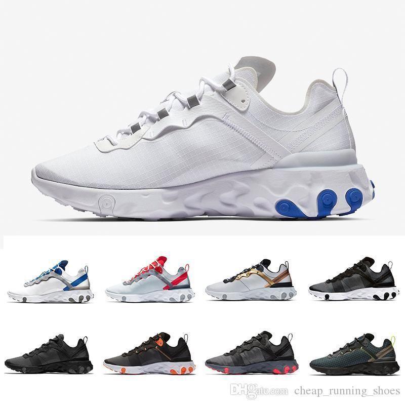 Game Royal Solar Red React Element 55 Total Orange Men Running Shoes For Women Designer Sports Mens Women Trainer 55s Sneakers 36-45