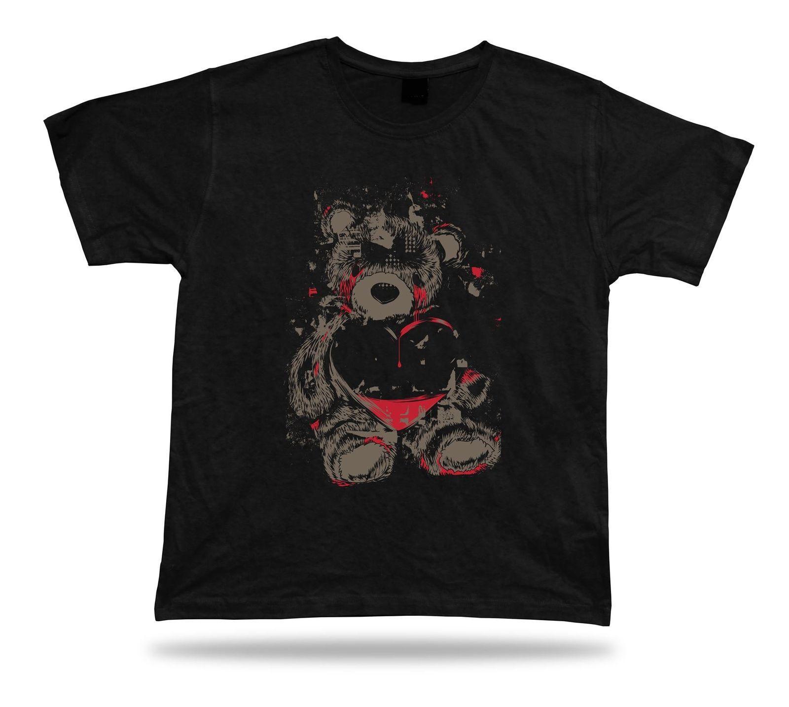 0da7727dde7c Teddy Bear Crying Heart Love Care stylish Tshirt tee shirt vector birthday  gift