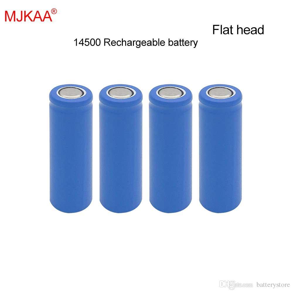 120 PCS السعر مصنع MJKAA 100٪ 1200mAh بطارية ليثيوم ايون حقيقية 14500 3.7V AA حجم بطارية قابلة للشحن للموبايل الطاقة مصباح رئيس شقة