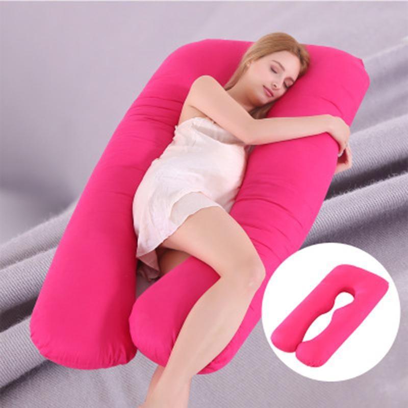 Schwangerschaft Kissen Seite schlafen Schwangere Frauen Bettwäsche Körper U -förmigen Kissen Lange Schlaf Multi -funktionellen Schwangere Frauen Kissen