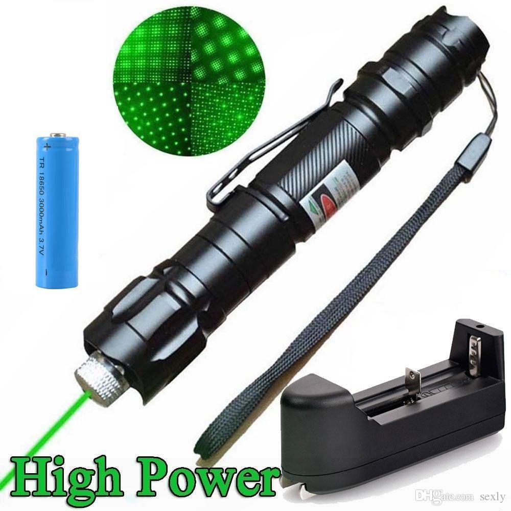 10Mile Incroyable 009 2in1 pointeur laser vert Pen étoile Cap Astronomie 532nm clip ceinture Cat Toy + 18650 Batterie + Chargeur UE Etats-Unis Livraison gratuite