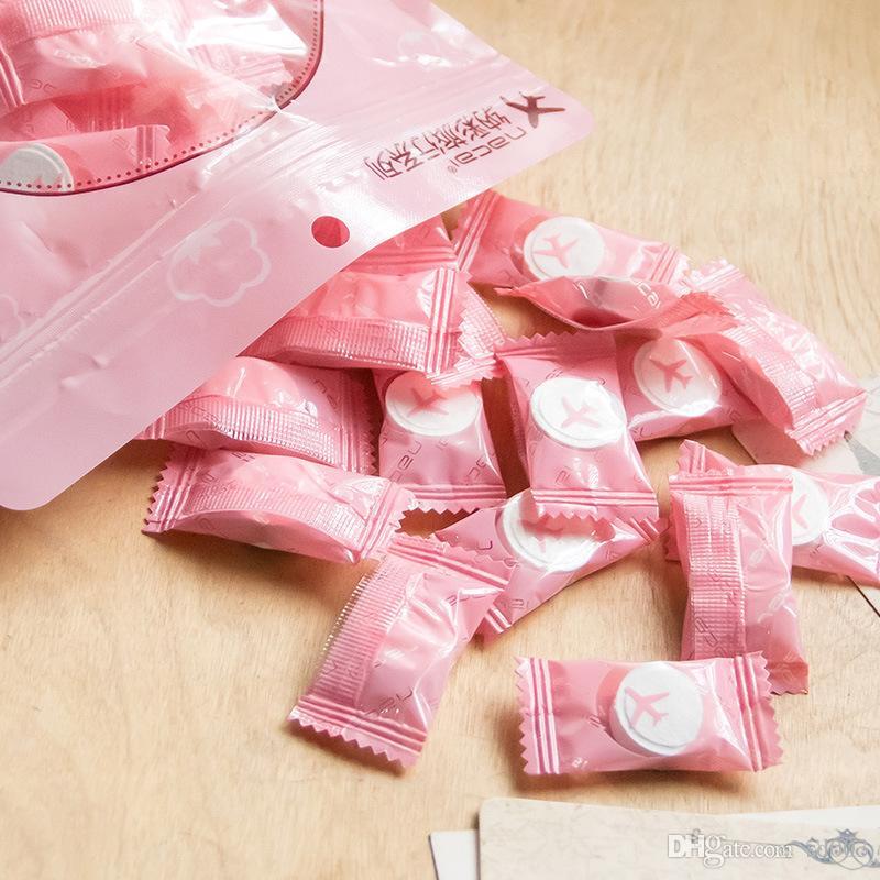 Одноразовые нетканые полотенца Сжатие цветов Travel Facecloth Хлопок Материал Candy Carry On Face Towel Экологичный 7 5nc L1