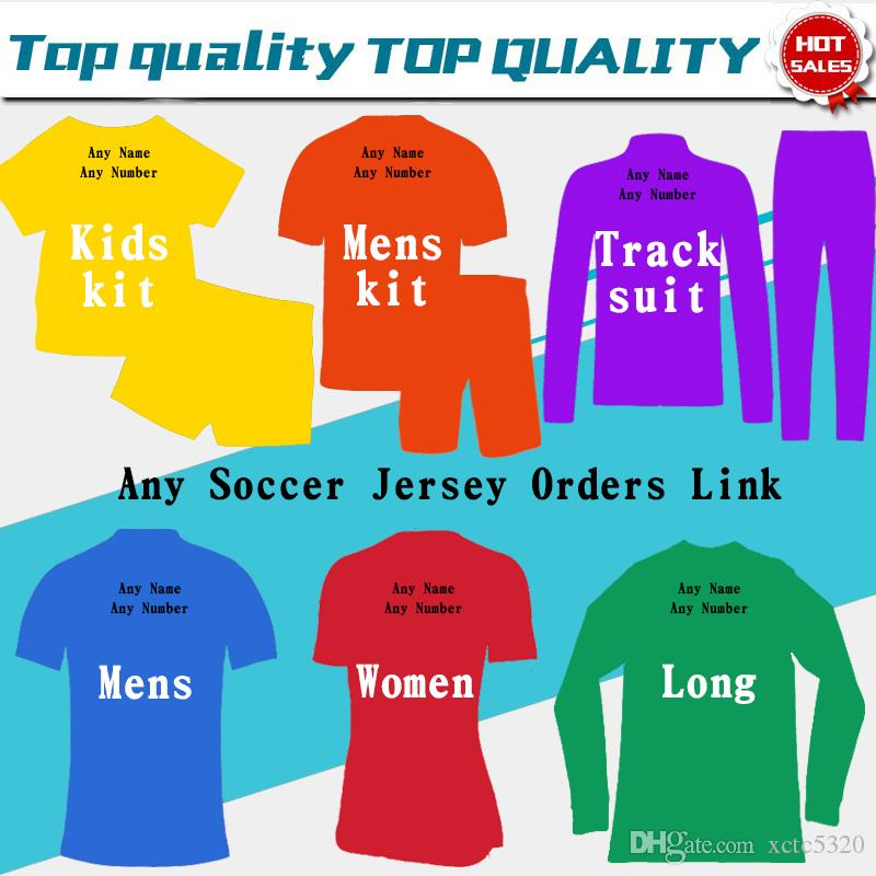 Futebol Jersey 19 20 Camisas de Futebol Kids Woman Tracksuits Camisola Homens de Futebol Jersey Clientes Pedidos Link Jacket