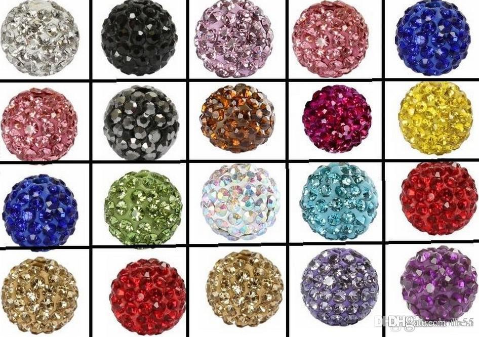 200 шт. / лот 10 мм смешанный черный цвет микро проложить CZ диско Кристалл Кристалл бисера браслет ожерелье бусины.хороший горный хрусталь DIY свободные w8534 w62
