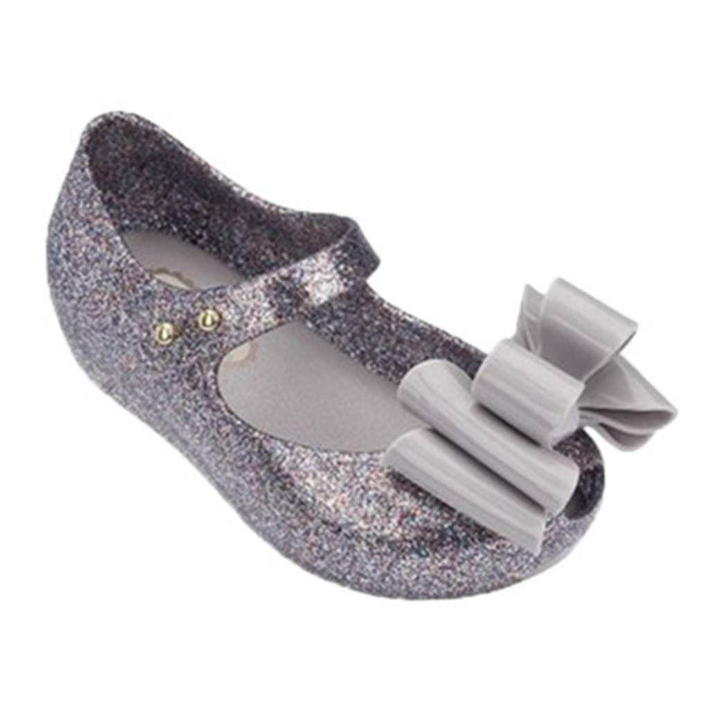 Melissa Rain Mini Shoes Multi-tiered Bow New Summer Children Jelly Shoe Candy Soft Princess Girl Fish Head Sandals Kids Q190601