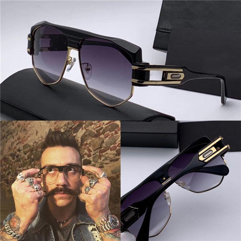 Il nuovo modo del progettista degli uomini degli occhiali da sole 671 Semplice pop punk di stile superiore Aviator Mezza cornice UV400 occhiali di protezione con custodia originale