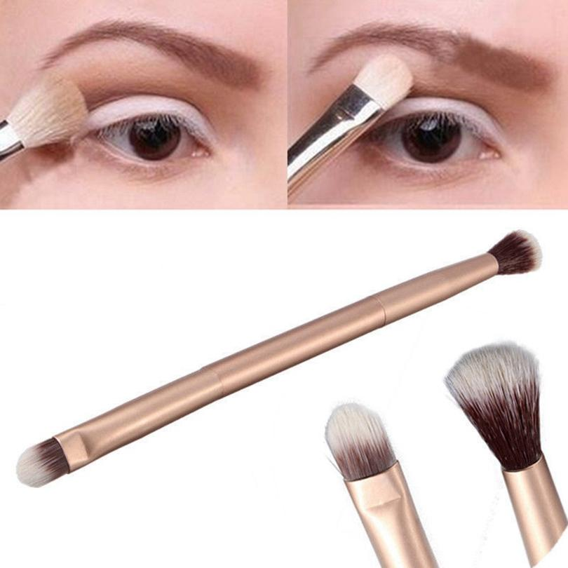 Occhi di pennelli di trucco doppio attacco manico in metallo Ombretto Spazzole Concealer evidenziare Strumenti ombretto pennello trucco HHA1381