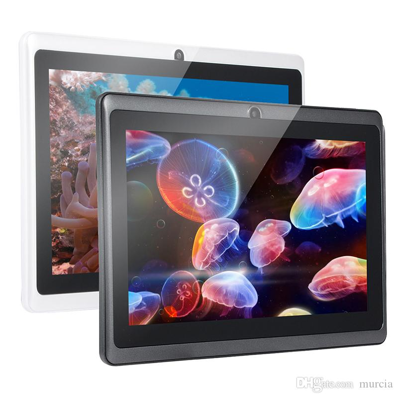 Q88 7 Inch Android 4.4 Tablet PC ALLwinner Cheap A33 Quade Core Dual Camera 8GB 512MB Capacitive Cheap Tablets 2019 New Arrival