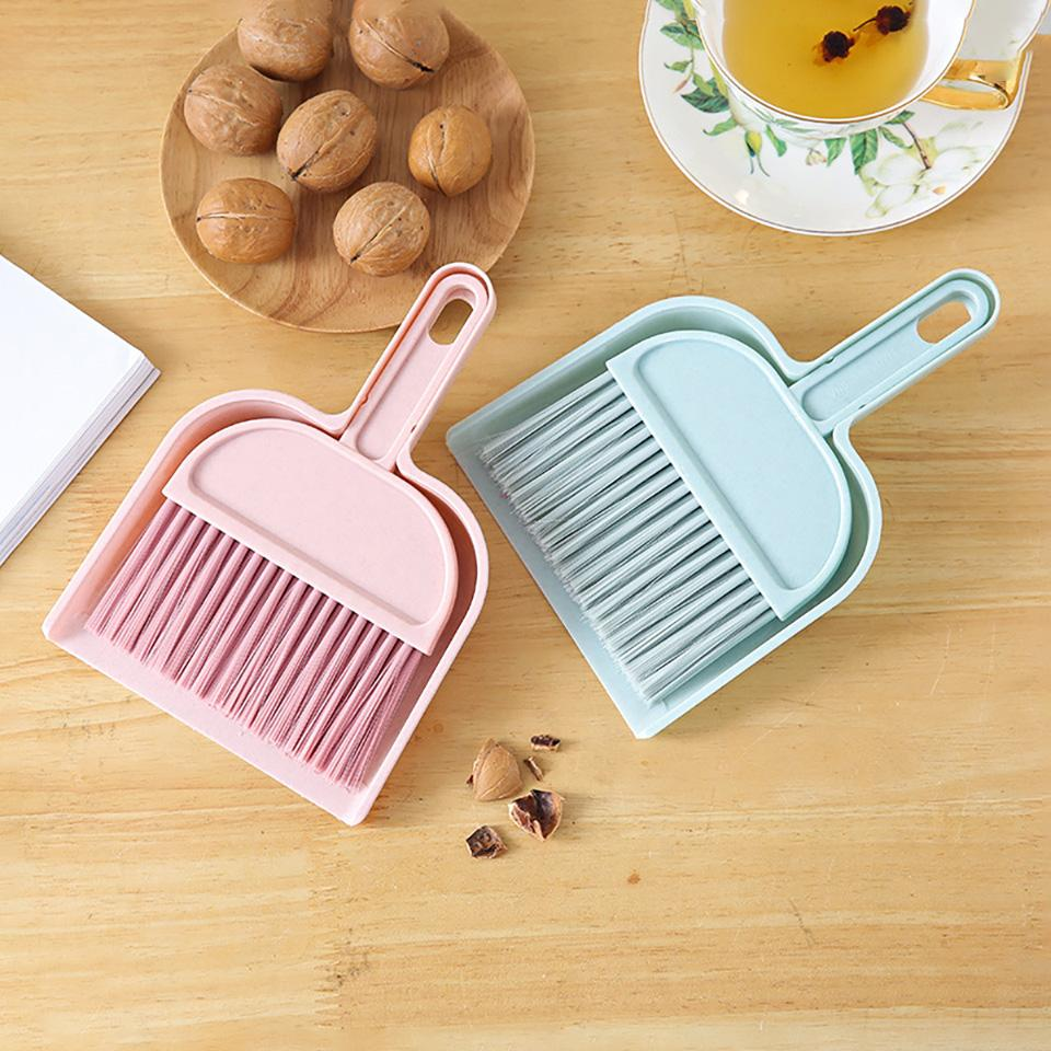 Mini Desktop Sweep Cleaning Brush Small Broom Household Dustpan Set Floor Cleaner Dust Brush Hot Wholesael