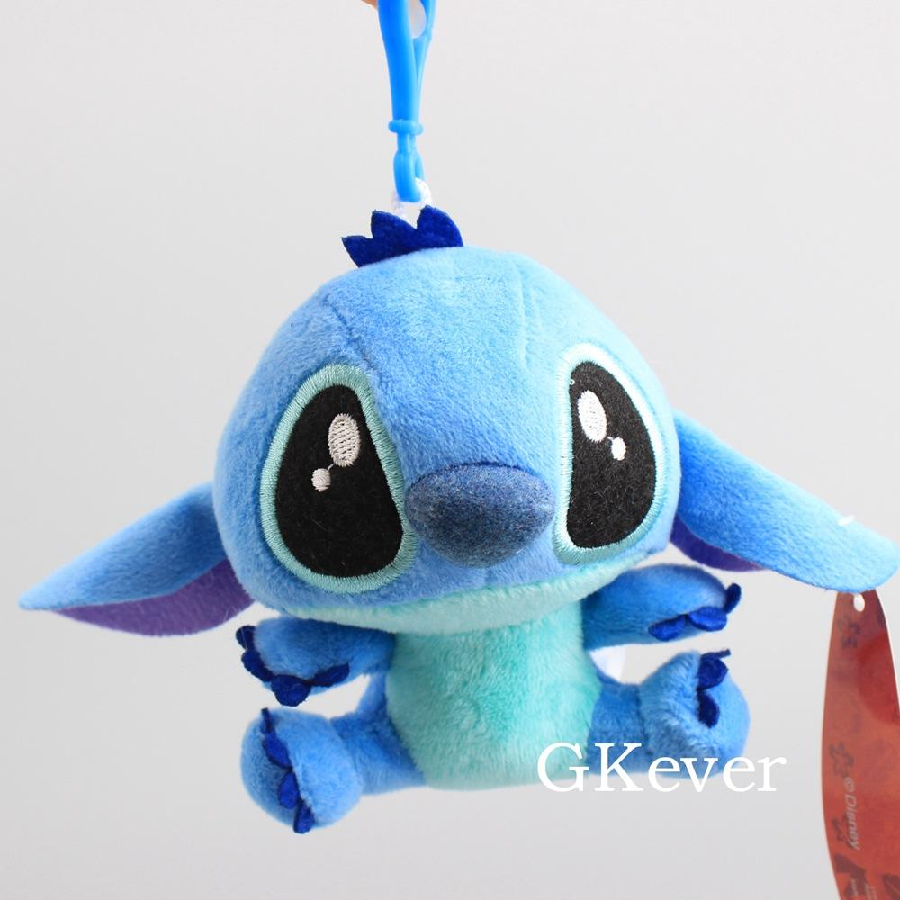 Cute Mini Stitch Angel Scrump Plush Pendant Stitch Stuffed Dolls Cool Keychain Bag Accessories 10-14cm