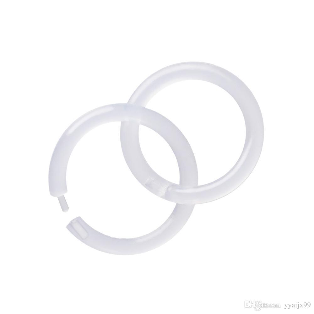 2020 new Newest Acrylic Nose Ring Transparent Body Piercing Jewelry Nose hoop Dimple Ring