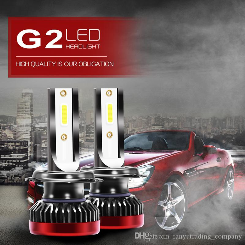 8000LM G2 Mini Car LED Headlight Bulbs Kit led H1 H4 H11 9005 9007 6000K Efficient COB Waterproof Fog Light
