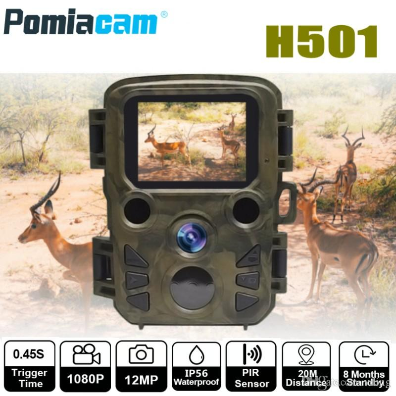 12MP 1080P Mini Trail Photo Trap Hunting Camera Hunting Game Camera Outdoor Wildlife Scouting Camera with PIR Sensor