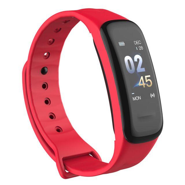 Fitness Tracker Pulseira inteligente C1Plus tela de cor pulseira de pressão de sangue Frequência cardíaca Band C1s para Sport Watch Android