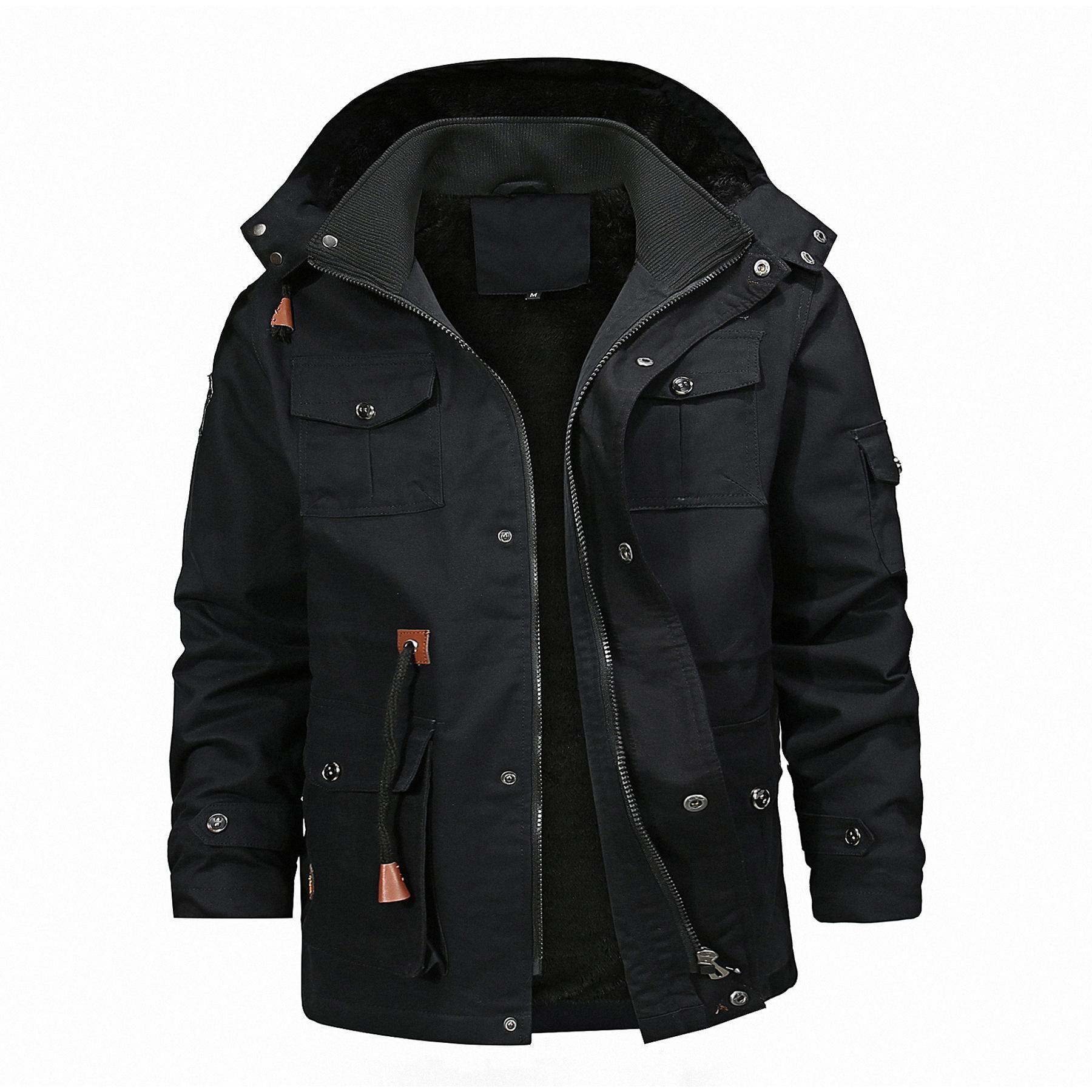 Nuovo stile degli uomini del rivestimento degli uomini di usura giacca invernale Large Size Spesso più velluto Giacca Gioventù invernali Coat Size