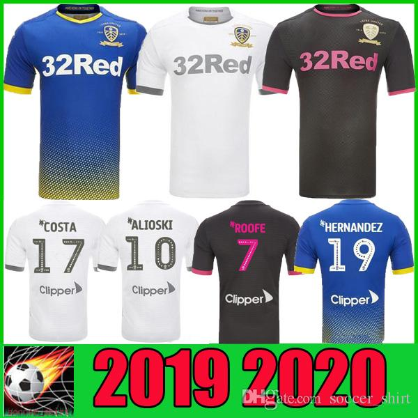 Acquista Maglia Da Calcio Bianca Leeds United 19 20 Home Centesimo Maglie Centenarie Nero 2019 2020 CENTENARY Maglia Da Calcio Blu Portiere A 13,22 € ...
