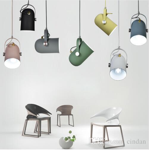 노르딕 미니멀리즘 droplight 각도 조절 E27 작은 펜던트 조명, 가정 장식 조명 램프 및 바 쇼케이스 스포트 라이트