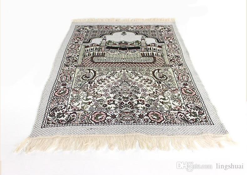 тонкий мусульманский молитвенный коврик салат Musallah молитвенный коврик ковер tapete по уходу Цапиш Banheiro Исламская молитва коврик 70*110см