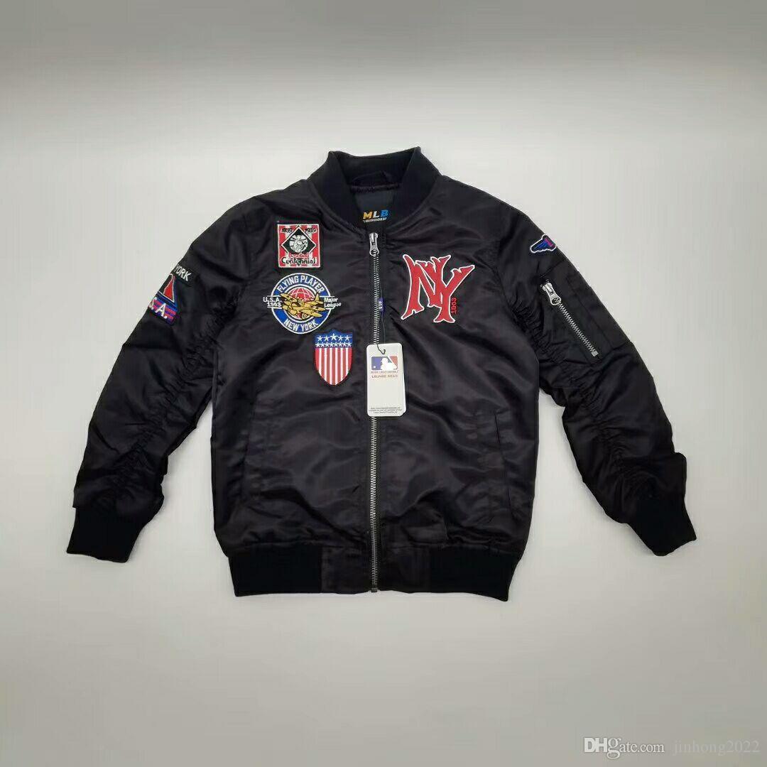 Modelo del diseñador otoño del resorte de la marca M ropa popular Niños sudaderas con capucha de la chaqueta pura prueba de viento al aire libre de algodón de la cremallera de los muchachos chaquetas