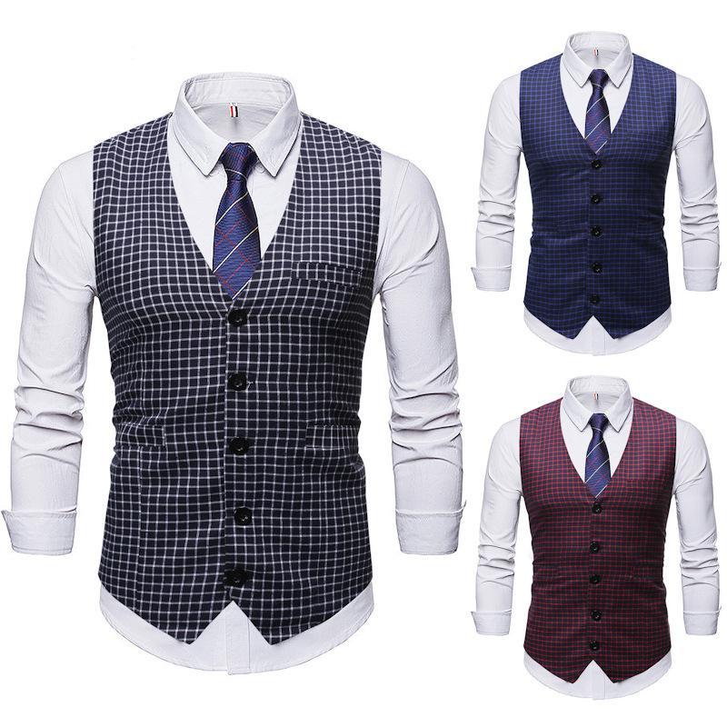 Modelos de explosión de la moda 2020 encuadra en el nuevo hombre Camisa del diseñador casual de la boda del chaleco Nueva invierno Paseo del chaleco Europa y América
