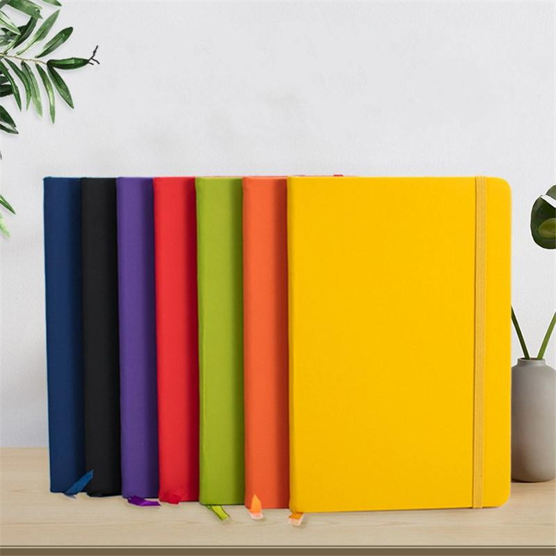 Hardcover Notebook A5 A6 Elastic Strap PU Notebook Student Office Diary Books PU Leather A5 Notepads