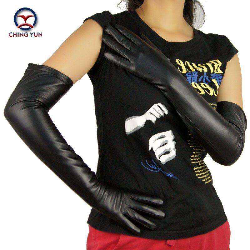 2018 neues Winter Dame Mode Schafsfell hochwertige heißen Verkauf Handschuhe Frauen echte Leder Handschuhe lang Stil Arm Hülse Y191024