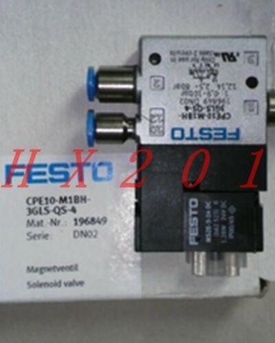 ONE NEW FESTO CPE10-M1BH-3GLS-QS-4 196849 Solenoid Valve