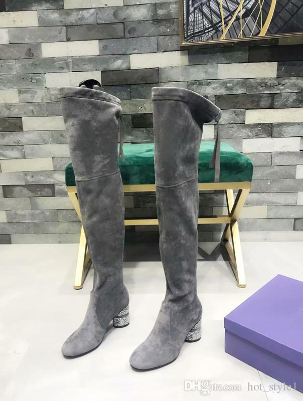 Autumn Winter Shoes Over Knee Boots Low