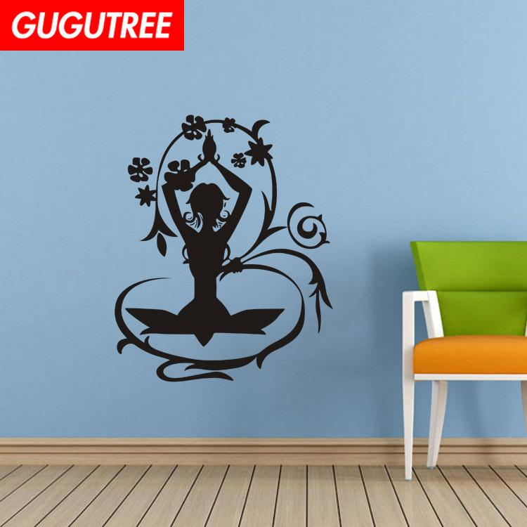 Decorate Home flower girl cartoon art wall sticker decoration Decals mural painting Removable Decor Wallpaper G-2016
