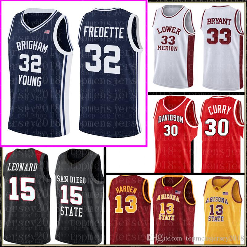 Brigham Young Cougars Jersey 32 Jimmer Fredette Basketball Maillots Université Hommes Cheap de gros Jersey broderie Logos gratuit 9889