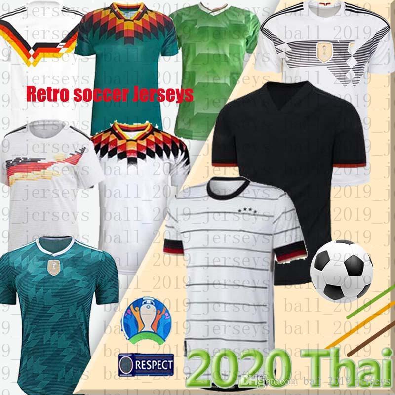 1990 1994 1988 독일 레트로 뉴저지 빈티지 클래식 축구 유니폼 레 우스 베르너 KROOS Britische는 MULLER BRANDT HUMMELS 유니폼을 fußballtrikots