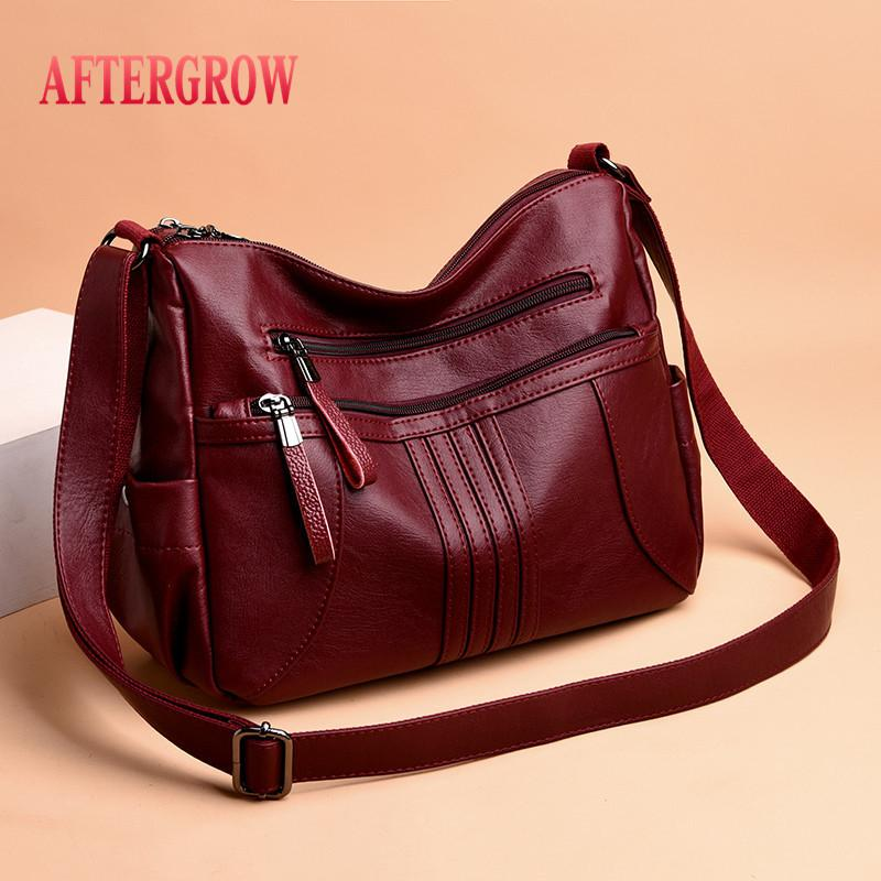2019 Women Shoulder Bag Luxury Soft Leather Large Bag Female Messenger Bags Big For Ladies Handbag Designer Brand bolsa feminina Y191026