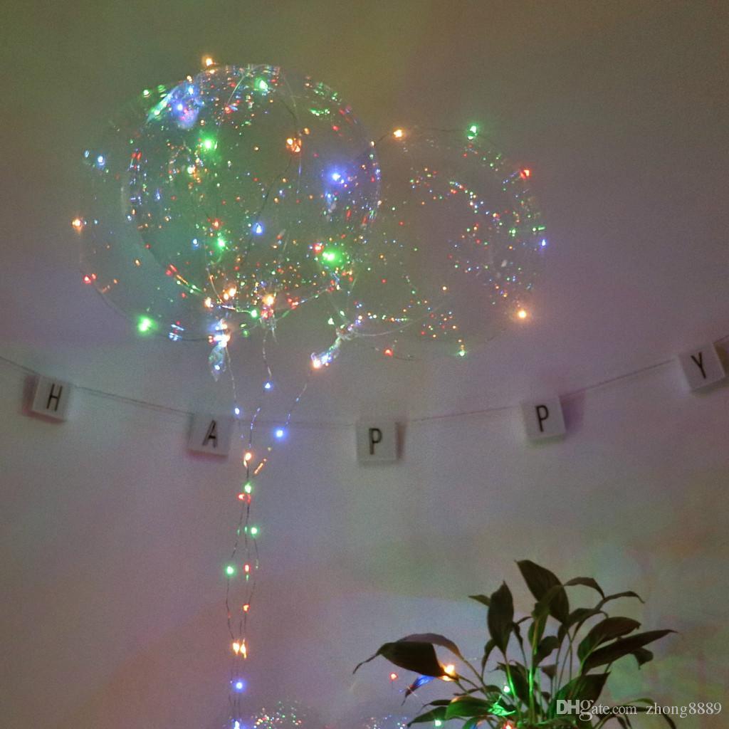 Партия 1 ШТ. Бобо мяч прозрачный гибкий пластиковый шар прочный гелиевый шар светодиодные украшения свадьбы день рождения
