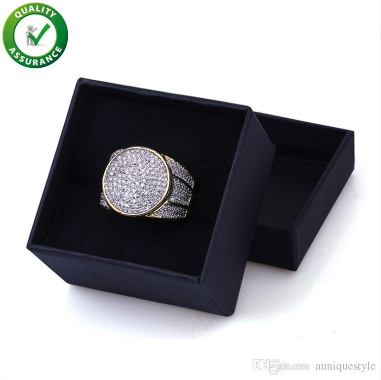 Gioielli da uomo Anelli Fedi nuziali Fidanzamento Set Love Luxury Designer Uomo Iced Out Anello Hip Hop Diamond Gold Championship Stile Pandora