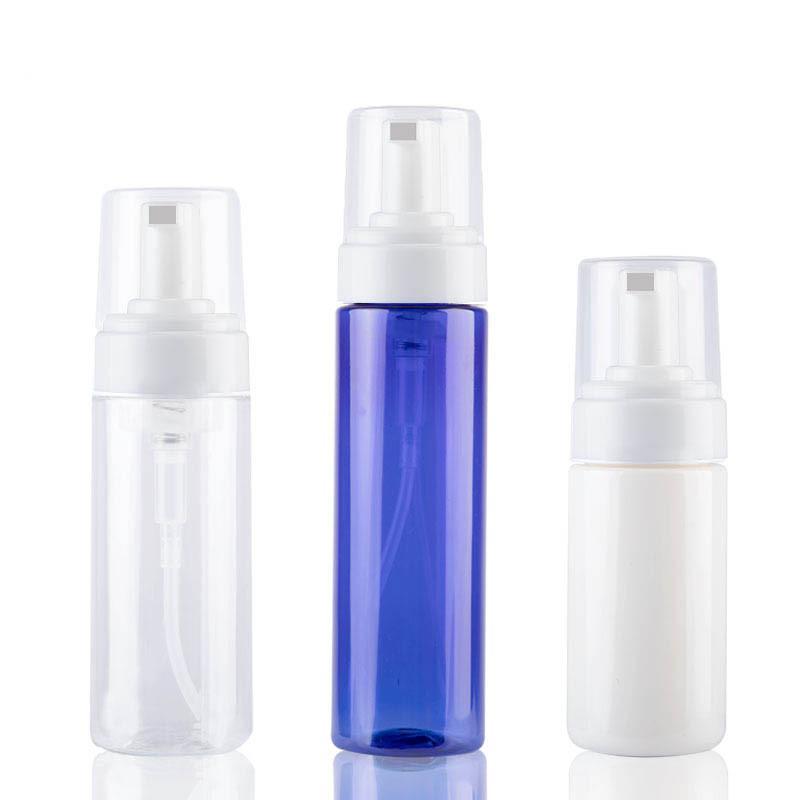 100 мл прозрачная Синяя пенящаяся бутылка жидкое мыло взбитые мусс точки розлива шампунь лосьон гель для душа пенный насос