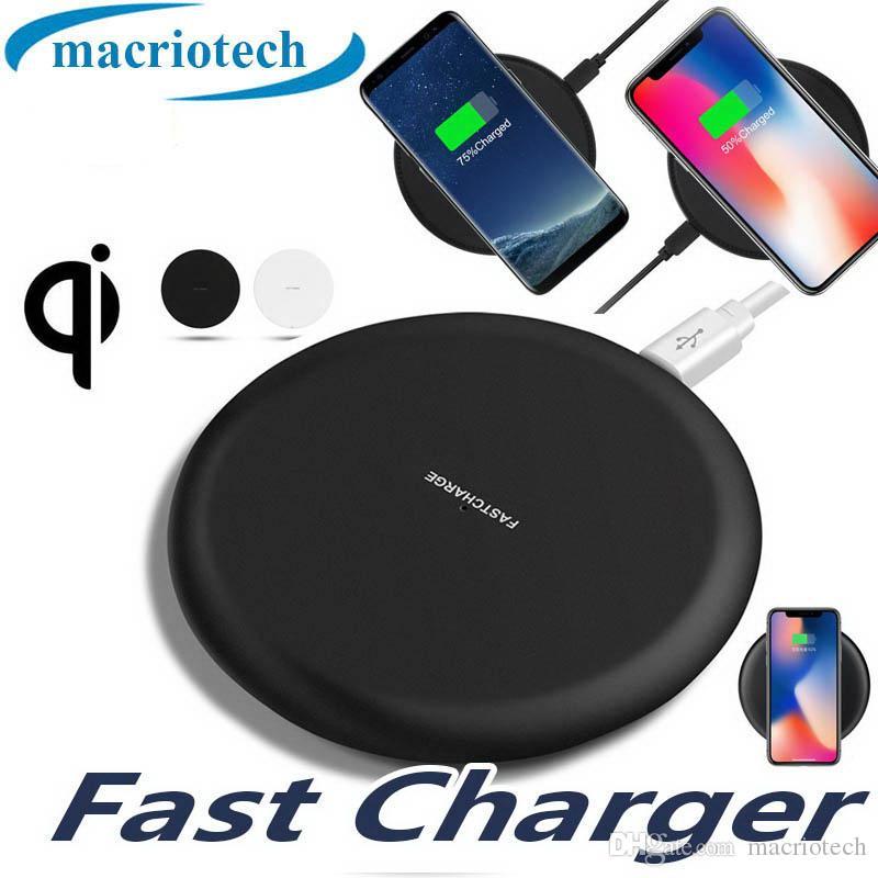 10W standard Qi-certifié Ultra Slim Portable chargeur sans fil Qi de charge Pad pour iPhone 11 Pro Max Samsung Note 10 avec emballage au détail