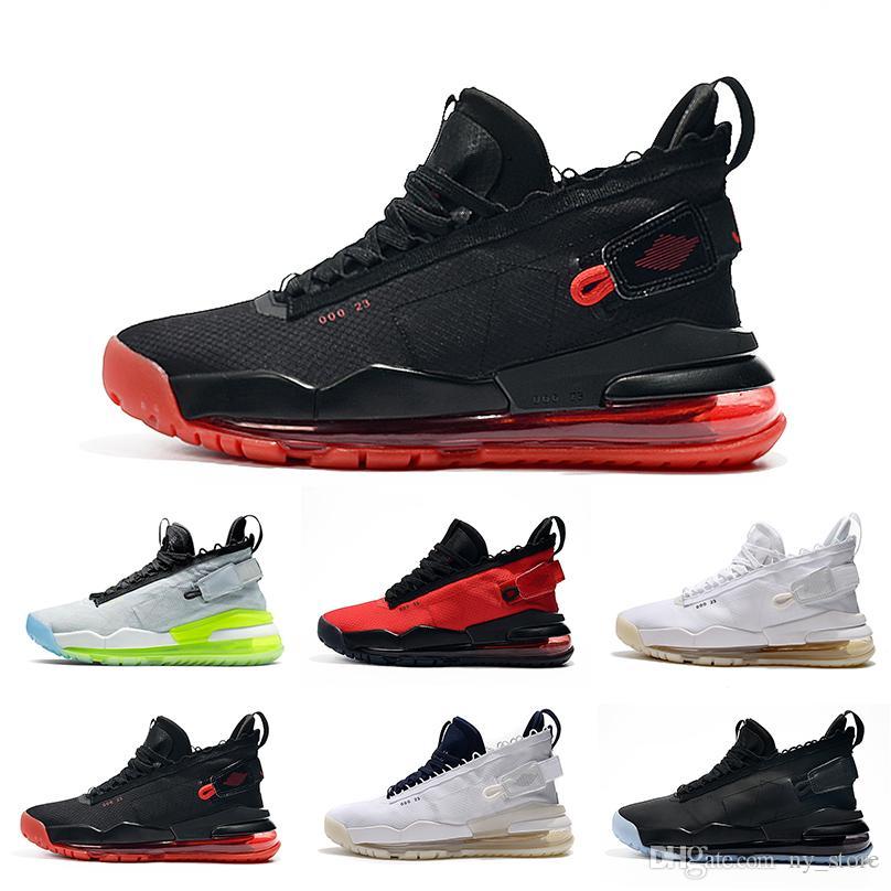 2019 ولدت رياضة الأحمر بروتو أحذية كرة السلة للرجال البلاتين فولت أسود BQ6623-006 النيون التدرج الأبيض الأزرق الرجال رياضية رياضة الولايات 7-12