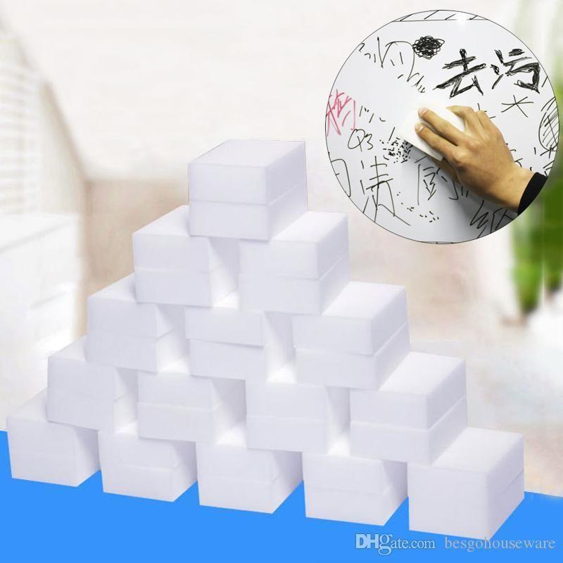 Magic Sponge Eraser 100Pcs/Set Household Cleaning Sponge Kitchen Office Cleansing Nano Magic Wipe Sponge Bathroom Cleaning BH2250 TQQ