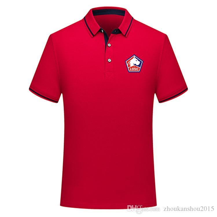 Тайская версия Quality 1 THE NEW 2019 2020 LIGUE Lille Soccer Polo Рубашка Мужчины футболка Футбольные рубашки 2019/20 Lille Polo Рубашки Джерси Пепежи