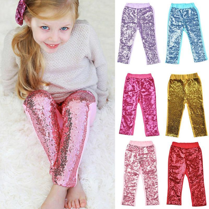 466d99b663b76 Kids Sequins Leggings Glitter Pants Glow Girls Trousers Boutique Long Tights  Girls Bling Dance Party Sequins Trousers MMA1390 Boys Lightweight Pants Ski  ...