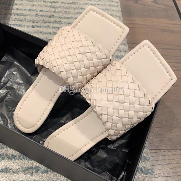 Luxus-Designer-Schuhe Sommer-Entwerfer-Frauen-echtes Leder-Slipper Faulenzer Muller Schuhe mit Frauen Prince Pantoffeln Muster-Damen Wohnungen