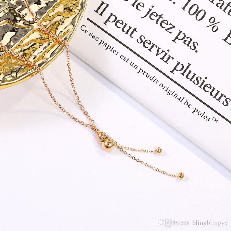 Necklace For Women Rose Gold Stainless Seel Clavicle Chain Necklace Female Fashion Jewelry Neck Chain For Gifts 9 Styles