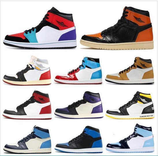 erkekler basketbol ayakkabıları hava JD 1 1s Obsidian Korkusuz Birliği kadın erkek eğitmen Spor Spor ayakkabılar 7-12 toptan