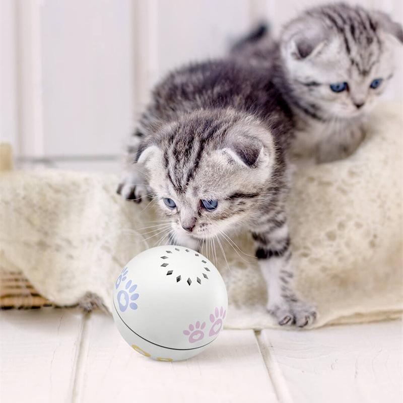 Xiaomiyoupin Petoneer الحيوانات الأليفة الذكية رفيق الكرة الحيوانات الأليفة لعبة ذكية لفتة اهتز التبديل المدمج في النعناع البري صندوق غير النظامية التمرير مضحك القط قطعة أثرية