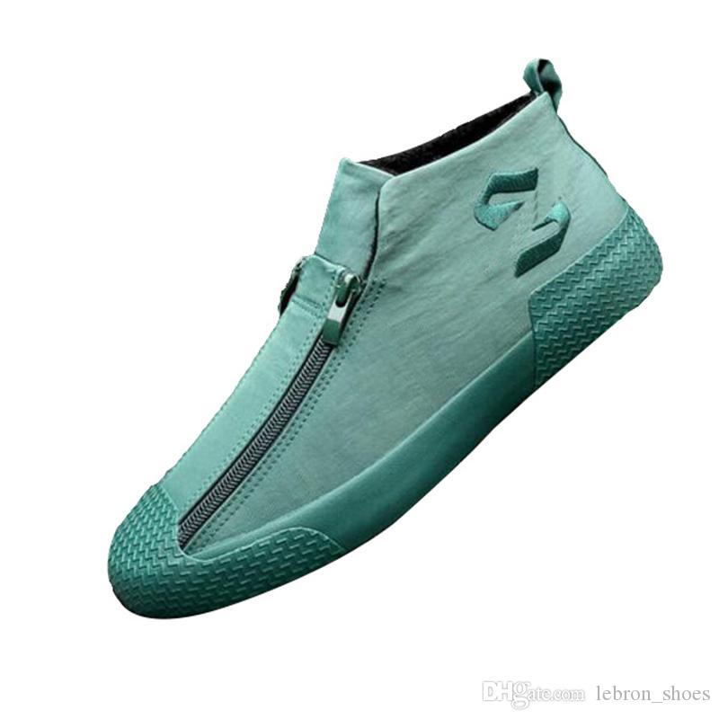 Original de lona de las mujeres del otoño zapato blanco zapatos de calle de disparo más los zapatos de terciopelo de las mujeres 2019 zapatos de la marea paño nuevo sabor de Hong Kong