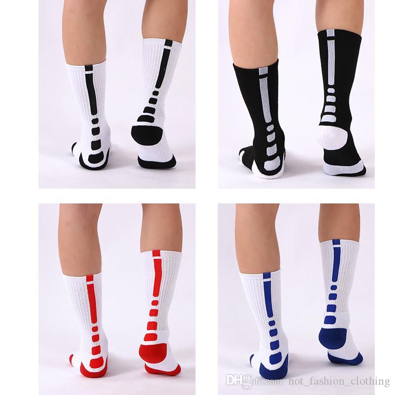 Elite Basketball Socks Thick Terry Towel Bottom Football Sports Crew Stockings Knee High Athletic Men Socks Breast Cancer Long Sock