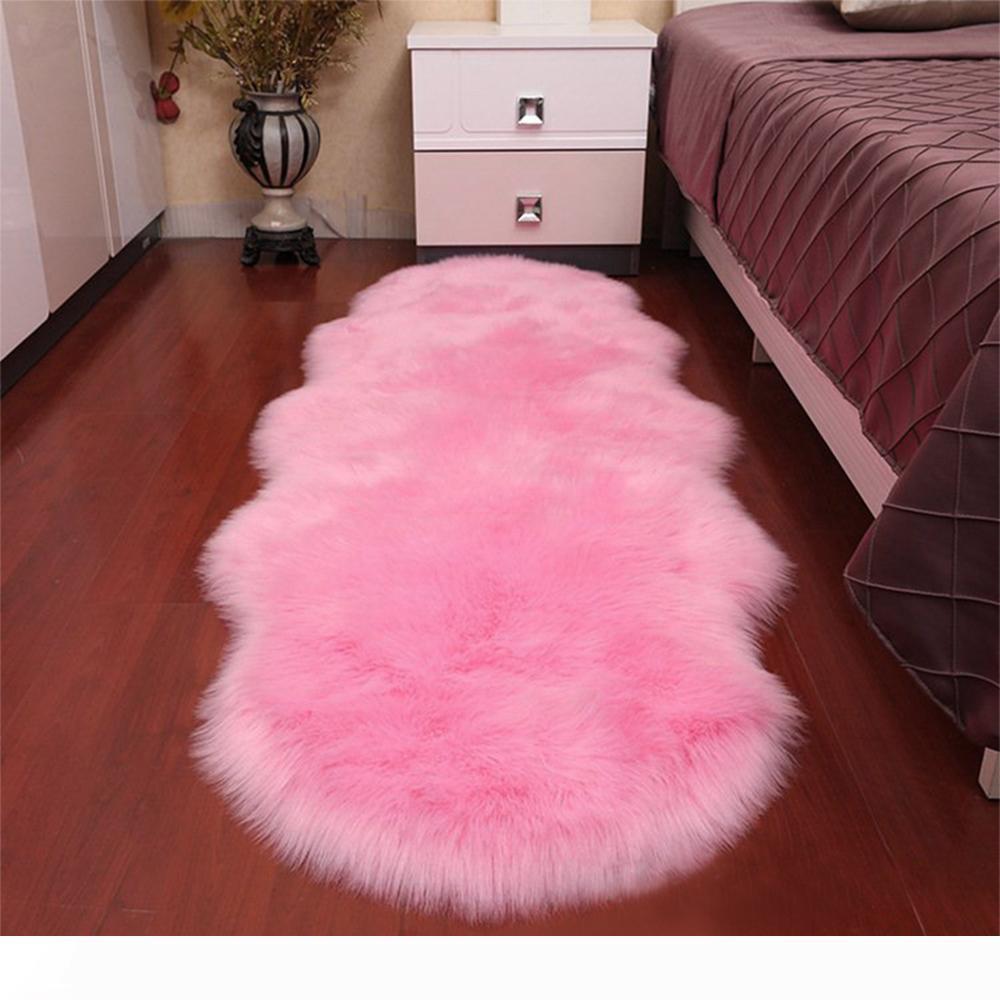 Super macio da pele de carneiro Rug interior Modern seda Fur Tapetes Pavimento Mat berçário Rug Tapete Crianças