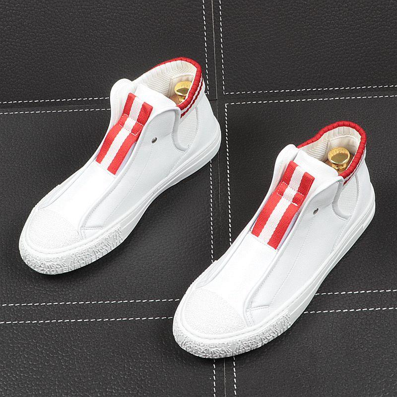 2020 New Good Quality Men High Top Sneakers Spring Autumn Casual High slip-on flats Shoes loafers Men Boots tenis masculino